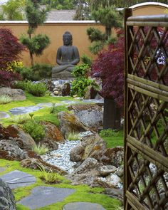 drainage into a creek bed   Landscape Dry Creek Bed Design Ideas, Pictures, Remodel, and Decor ...