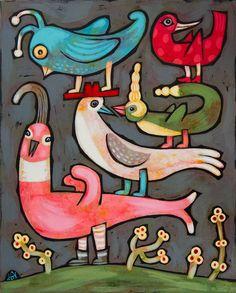 "Alison O'Donoghue's class, ""Birds on Birds""    #CarlaSonheim"