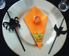 Bat and Spider Straws for Halloween