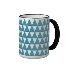 Unique, trendy and pretty mug. Beautiful classic light sky blue, aqua teal…