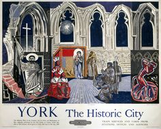 British Railways (North Eastern Region) poster showing three scenes from the York Mystery Plays: The Risen Christ Jigsaw Puzzle Pieces) Framed, Poster, Canvas Prints, Puzzles, Photo Gifts and Wall Art Posters Uk, Railway Posters, Train Posters, Fine Art Prints, Framed Prints, Canvas Prints, Mystery Plays, National Railway Museum, Art Uk