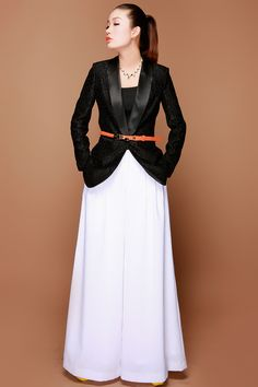 free ship plus size XXXL fashion ladies cotton high waist loose wide leg black white pants casual trousers culottes for women-inPants & Capris from Apparel & Accessories on Aliexpress.com