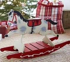 Horse Wooden Rocker #pbkids