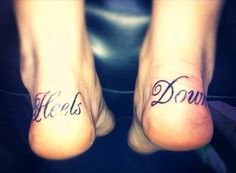 Heels Down - this girl is dedicated to her sport!   ~ this should be for me
