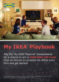 We want to know which IKEA products you would love to see in your home! Play our Pinterest sweepstakes and be entered for a chance to win a $500 IKEA Gift Card. See official rules here: http://info.ikea-usa.com/playbookrules/. #IKEA #PinToWin