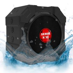 Smack Black is the new Sound! by Armor MiNE $48.95. WATERPROOF SHOCKPROOF DUSTPROOF: Rugged and durable silicone housing protects speakers from corrosion, shorting and tumbling off tables or counters; Waterproof level IPX5- Protected against low pressure water stream from any angle. (Not submersible)