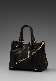 JUICY COUTURE Dylan Leather Daydreamer in Black - New