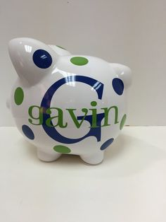 Hey, I found this really awesome Etsy listing at https://www.etsy.com/listing/269638189/childrens-personalized-ceramic-piggy