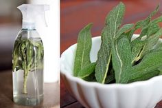 DIY all-purpose sage cleansing spray = positive energy