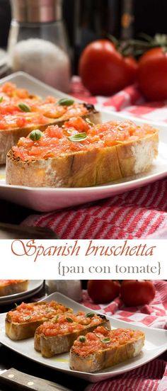 Tortilla espaola bites with manchego pinterest tapas spanish spanish bruschetta pan con tomate forumfinder Image collections