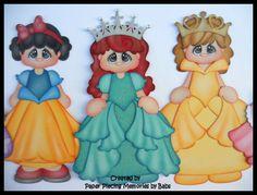 Paper piecing for scrapbooking, die cut, embellishment: Princesses created by Paper Piecing Memories by Babs https://www.facebook.com/paperpiecingmemories.bybabs/?fref=ts