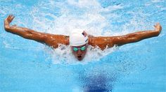 Ryan Lochte of USA in action in the poolRyan Lochte of USA swims butterfly as he competes in heat five of the men's 400m Individual Medley on Day 1 of the London 2012 Olympic Games at the Aquatics Centre on 28 July 2012 in London, England.