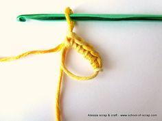 Anello Magico - Si fa un nodo d'inizio lasciandolo bello largo e si usa come un anello, si lavora dentro il primo giro di maglie basse e poi si stringe. Lana, Friendship Bracelets, Crochet, Hobbies, Jewelry, Chrochet, Bijoux, Crocheting, Jewlery