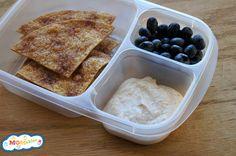 Creamy Cinnamon Yogurt Dip & Baked Chips