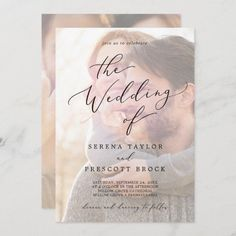 Delicate Black Calligraphy   Faded Photo Wedding Invite. Click to customize with your picture and personalized details today. Black And White Wedding Invitations, Beautiful Wedding Invitations, Wedding Invitation Sets, Custom Invitations, Invitation Design, Colored Envelopes, White Envelopes, Envelope Liners