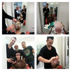 #Sassoon workshop with Scott Cottis & Peter Dawson #Cut&color