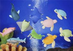 Iwako Erasers. These ocean ones look really cool, but you know I love any kind of eraser animal. :)