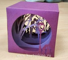 "Picture of & quot; from the collection of ""Kra . Kirigami, 3d Paper Art, Diy Paper, Tarjetas Diy, Tunnel Book, Diy And Crafts, Arts And Crafts, Paper Engineering, Marianne Design"