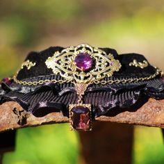 Victorian Gothic Steampunk  Chocker Amethyst от JohannaFerrius, $27.49