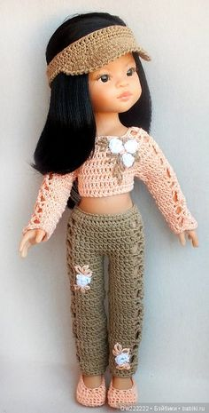 Trousers for clothes / Clothes for dolls / Shop. Sell to buy a doll / Babies. Clothes for dolls Crochet Doll Dress, Crochet Doll Clothes, Knitted Dolls, Doll Clothes Patterns, American Girl Crochet, Mini Vestidos, Baby Dress, Trousers, Rag Doll Costumes
