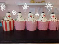 snowman cupcakes by sweet aroma :)