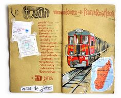 Travel Journal-Art Diary-Eclectic Design Book-Inspirational Design -Stéphanie Ledoux - Carnets de voyage