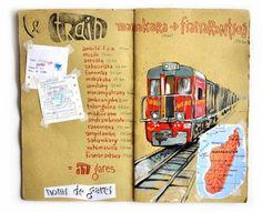 Travel Journal-Art Diary-Eclectic Design Book-Inspirational Design -Stéphanie Ledoux - Carnets de voyage
