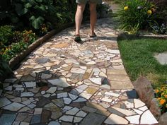 Image result for patio made from scrap marble