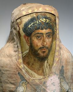 Fayum mummy portrait Almost look like the portraits on the walls of the homes in Pompii