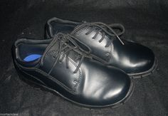 BOYS BLACK SMART FIT DRESS SHOES 4 CHURCH EASTER WEDDING CHRISTMAS #SmartFit #DressShoes