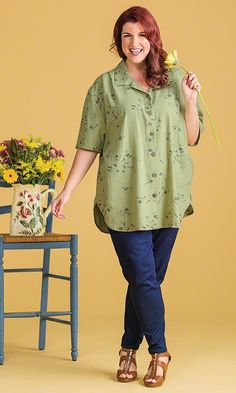 Lenox Shirt / MiB Plus Size Fashion for Women / Spring Fashion http://www.makingitbig.com/product/5171