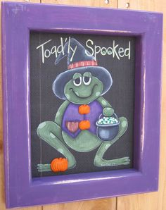 Tole Painting Pattern, Toad'ly Spooked, DIY.