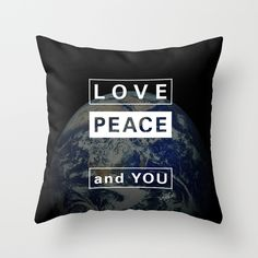 and YOU_earth Throw Pillow by SEVENTRAPS | Society6