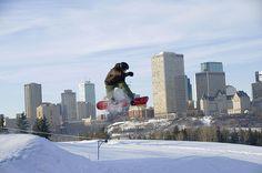 Snowboarders at Edmonton Ski Club
