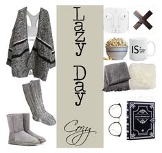 """Lazy Day (Cozy)"" by olilandy on Polyvore featuring Calvin Klein, Calvin Klein Underwear, UGG Australia, Waring, Crate and Barrel, From the Road and Linda Farrow"