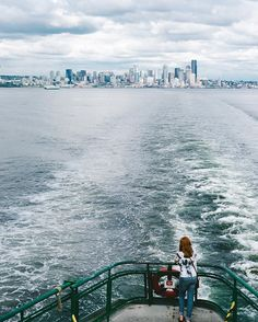 The views of Seattle coming to and from Bainbridge Island via @luichavez