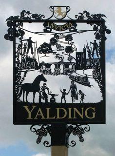 Yalding in Kent, England