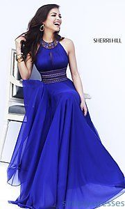 Buy Long High Neck Halter Formal Gown at SimplyDresses