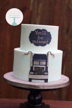 Semi truck birthday cakes. Retirement party cakes
