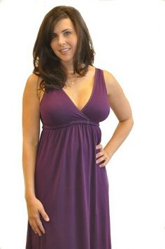 Actualy link for Amamante Signature Nursing Gown - Plum