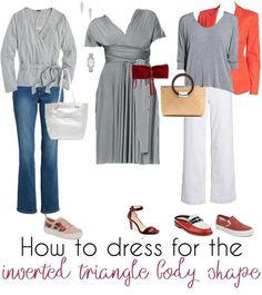 How to dress the inverted triangle body shape | 40 Style