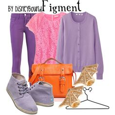 Figment, created by lalakay on Polyvore #disney