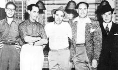 A Marx Brothers snapshot (from left): Zeppo, Groucho, Chico, Gummo and Harpo. Image comes from: http://www.marx-brothers.org/biography/marxes.htm
