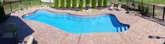 16 x 36 Lexington Fiberglass Swimming Pool Fire Pit Near Pool, Fiberglass Swimming Pools, Pool Sizes, Blue Hawaiian, Healthy Exercise, Outdoor Decor, Design, Fiberglass Pools