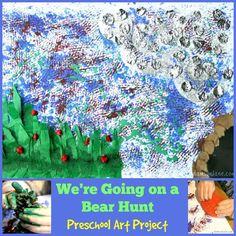 We're Going On a Bear Hunt Mixed Media Preschool Art Project from damsonlane.com