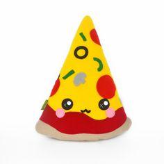 Pizza slice pillow plushie kawaii novelty cushion pie food by Plusheez on Etsy