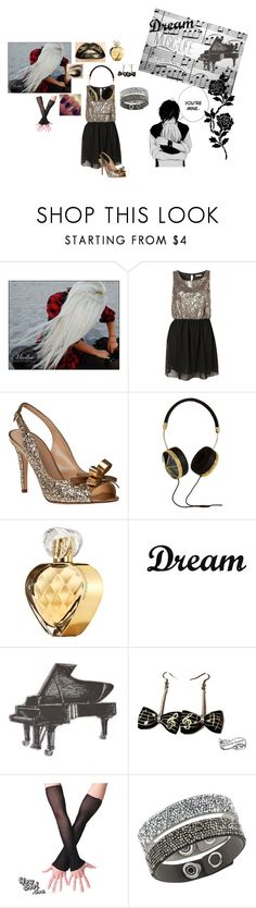 """""""Louana invité à un concert"""" by camille-93200 ❤ liked on Polyvore featuring Kate Spade, Frends, Elizabeth Arden, Dot & Bo, Music Notes, Music Legs and Swarovski"""
