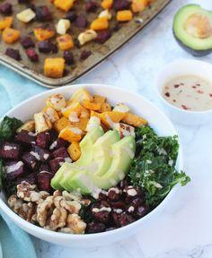 Roasted winter veggie power bowl paleo обеды и ланч. Paleo Recipes Easy, Vegan Dinner Recipes, Lunch Recipes, Whole30 Recipes, Simple Recipes, Vegetarian Desserts, Vegetarian Paleo, Burger Recipes, Fall Recipes