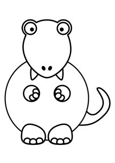 Cute and nervous dino Dinosaur Coolness Pinterest