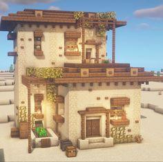 Casa Medieval Minecraft, Minecraft House Plans, Minecraft Mansion, Minecraft Cottage, Easy Minecraft Houses, Minecraft House Tutorials, Minecraft Room, Minecraft House Designs, Minecraft Decorations